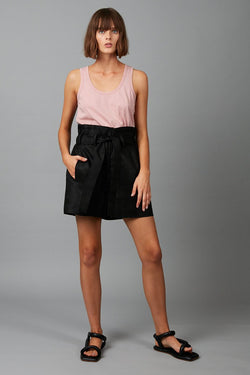 BLACK RELAXATION LINEN SHORT - Nique Clothing