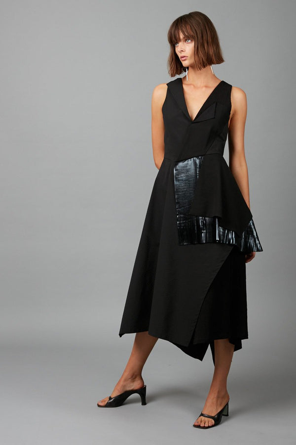 BLACK IZI DRESS - Nique Clothing