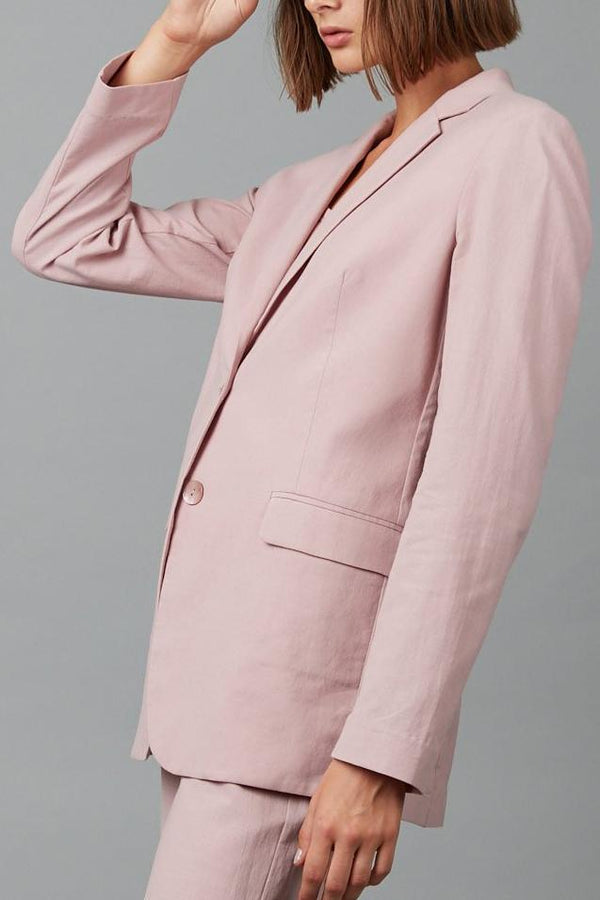 WASHED PINK SHIORI COTTON JACKET - Nique Clothing