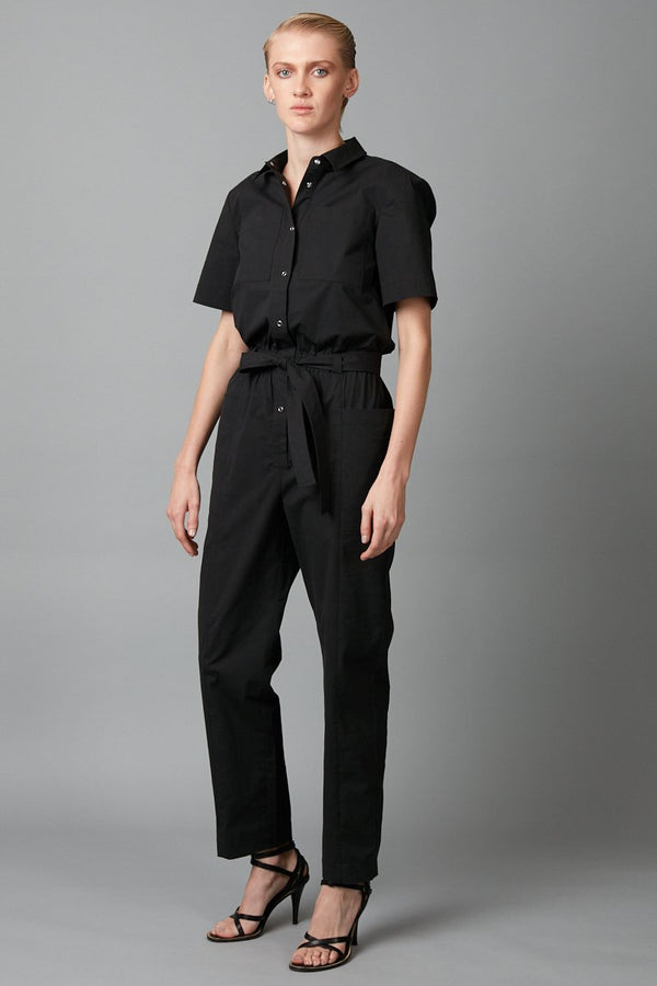 BLACK DACHI COTTON JUMPSUIT - Nique Clothing