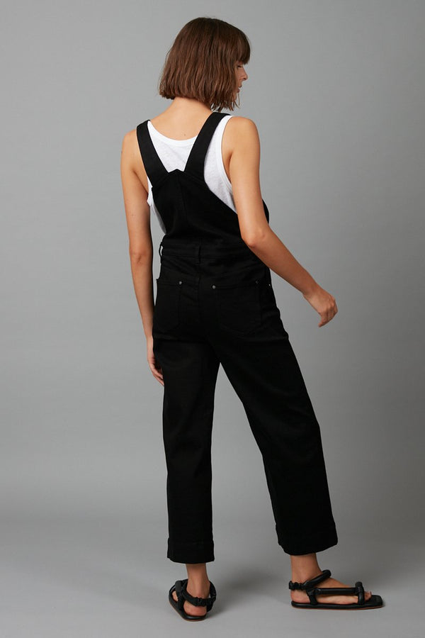 BLACK JOJA FULL LENGTH OVERALLS