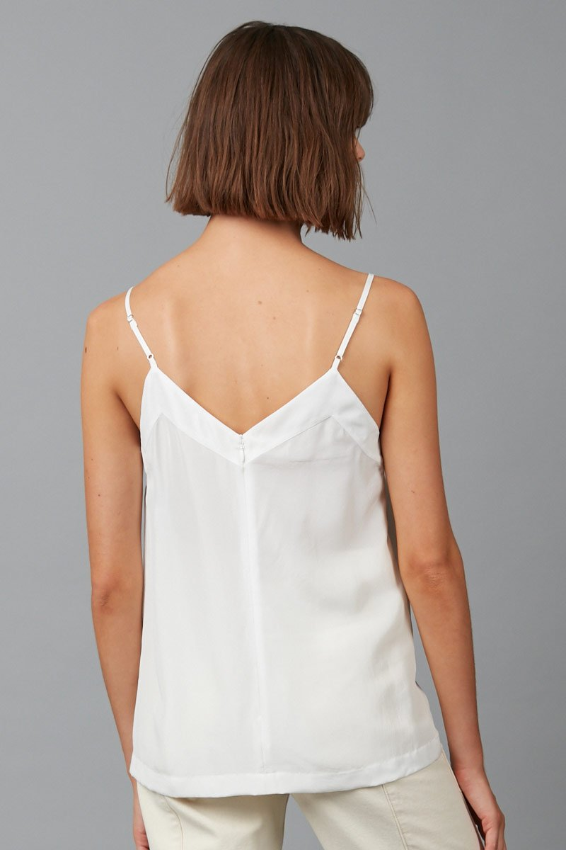 IVORY GLIDER PANELLED SLIP CAMI - Nique Clothing