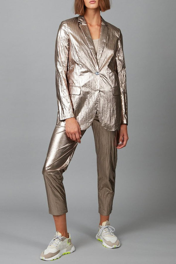 ROSE BRONZE METALLIC SHIORI JACKET - Nique Clothing