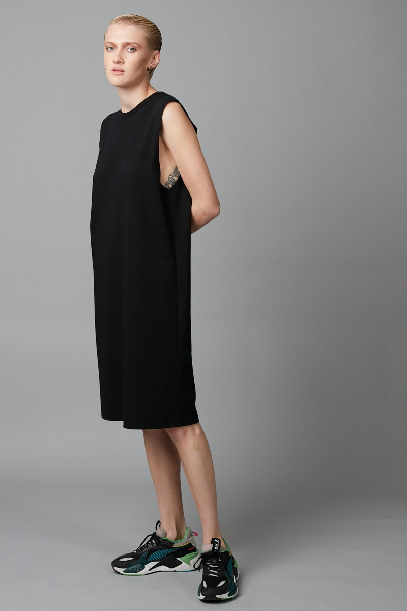 BLACK BOX TANK TEE DRESS - Nique Clothing