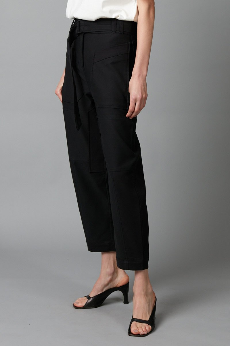 BLACK UNISEX SUUKO COTTON PANT