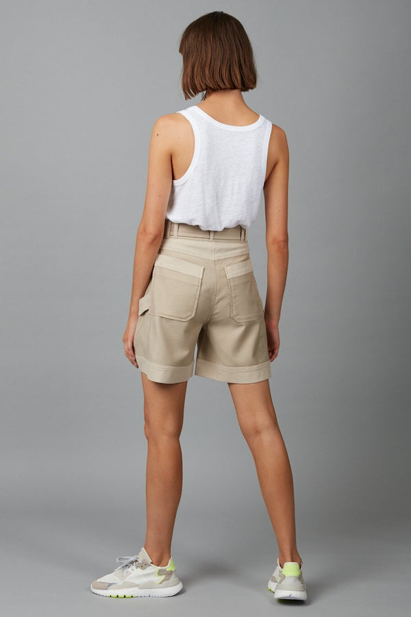 BEIGE SUUKO SHORT - Nique Clothing