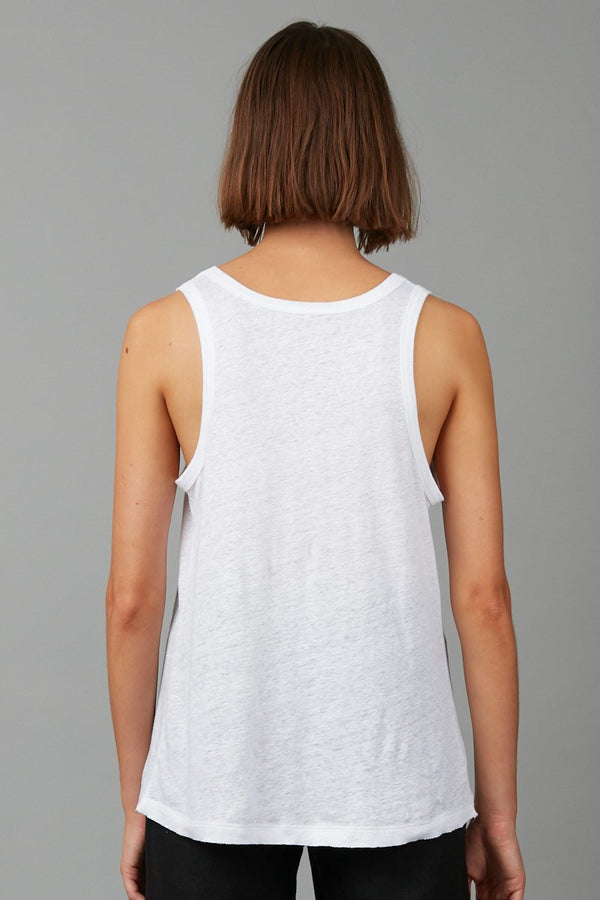 OFF WHITE KYOTO LINEN TANK - Nique Clothing