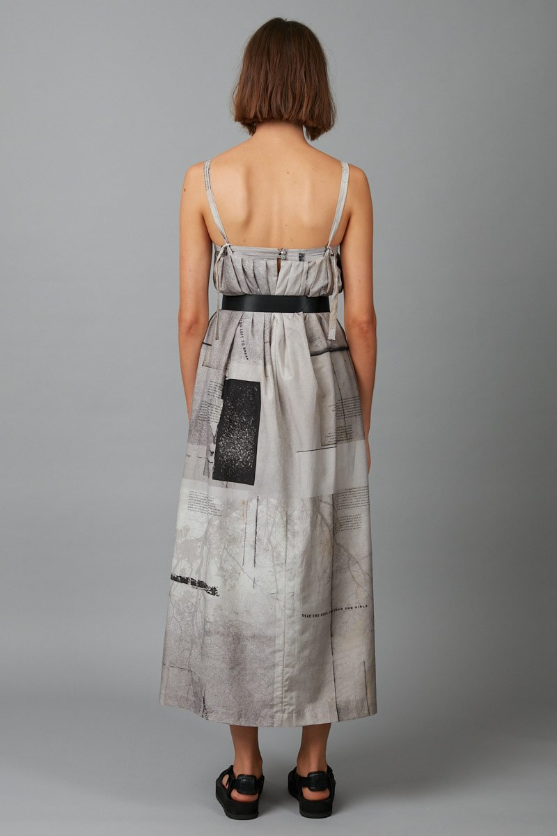 CEMENT JUDO TUCK MAXI DRESS