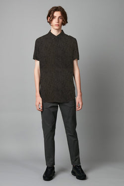 TRANQUIL PRINT SLIM SHORT SLEEVE SHIRT - Nique Clothing