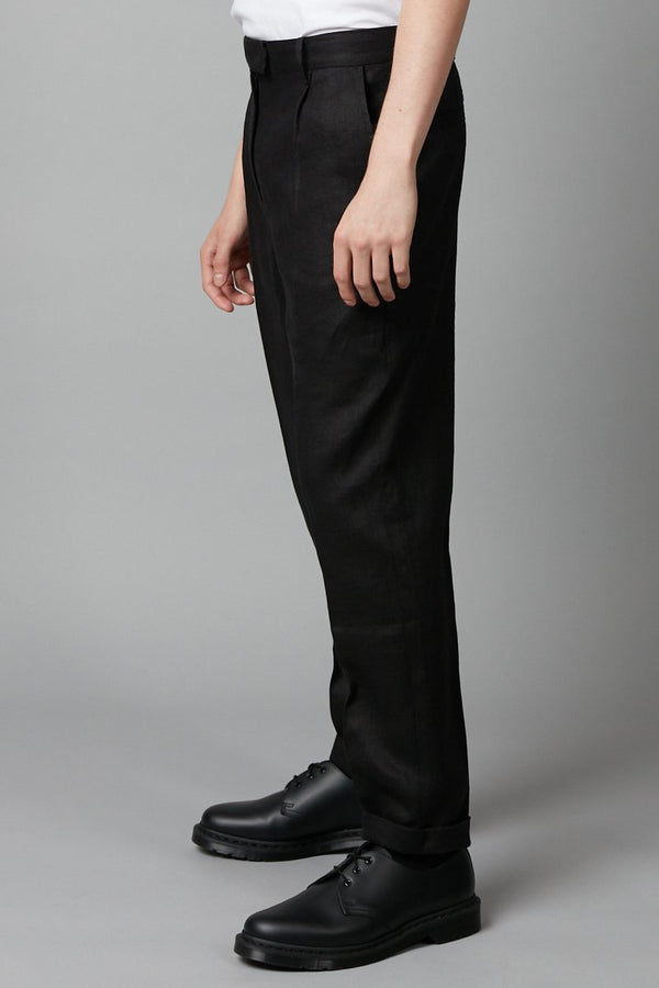 BLACK NAMIKO LINEN PANT - Nique Clothing
