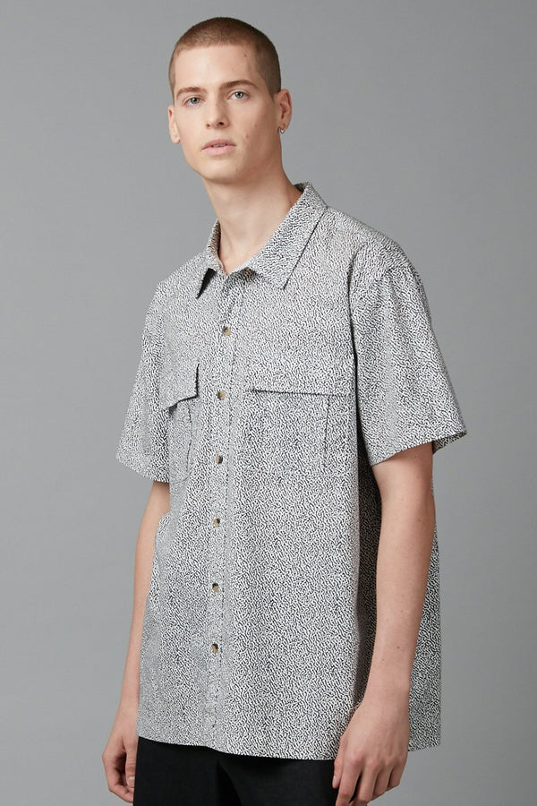 ODYSSEY PRINT RELAXED SHORT SLEEVE SHIRT - Nique Clothing