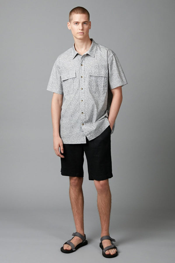 ODYSSEY PRINT RELAXED SHORT SLEEVE SHIRT