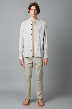 KISHO MANDARIN COLLAR LONG SLEEVE SHIRT