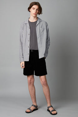 SOSO CHECK LONG SLEEVE COTTON SHIRT