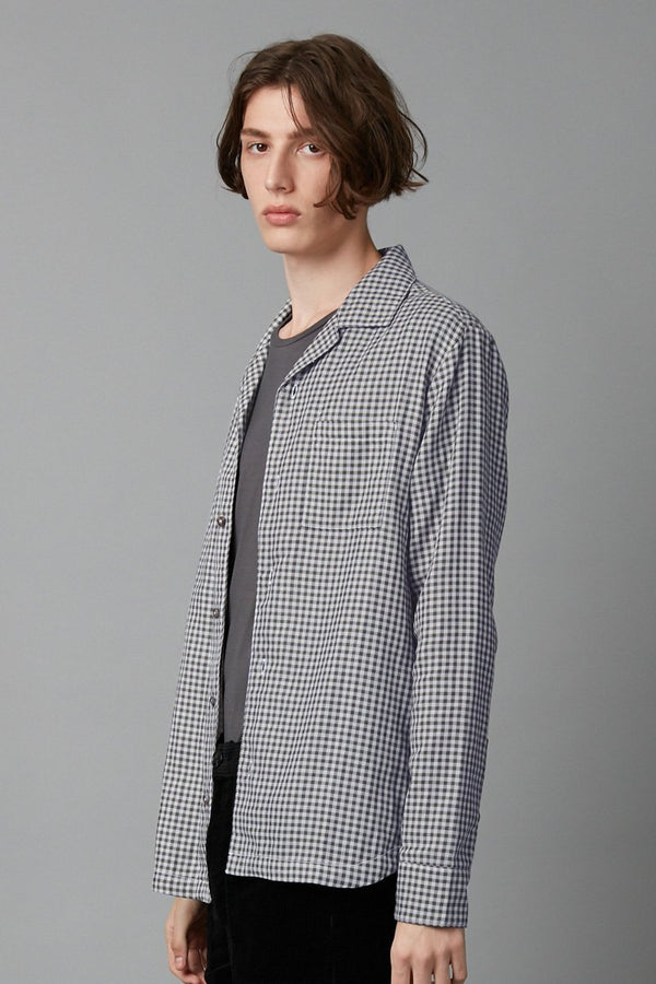 SOSO CHECK LONG SLEEVE COTTON SHIRT - Nique Clothing