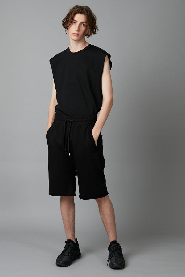 BLACK  ELI UNISEX FRENCH TERRY SHORTS