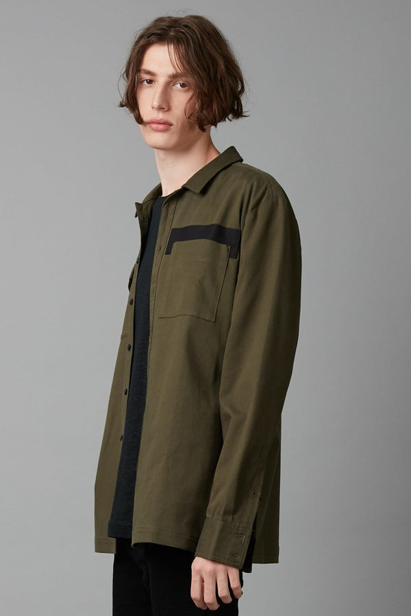 KHAKI YOKY LONG SLEEVE SHIRT