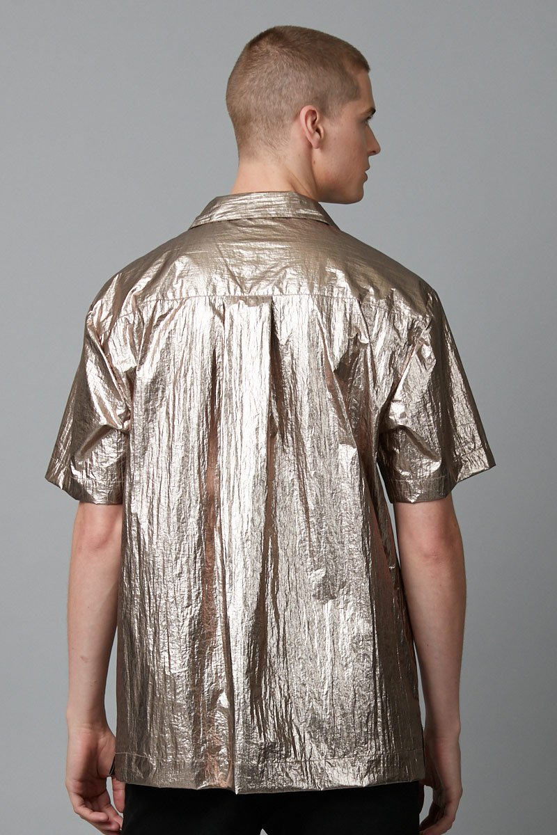 BRONZE UNISEX TSAKIU METALLIC SHIRT
