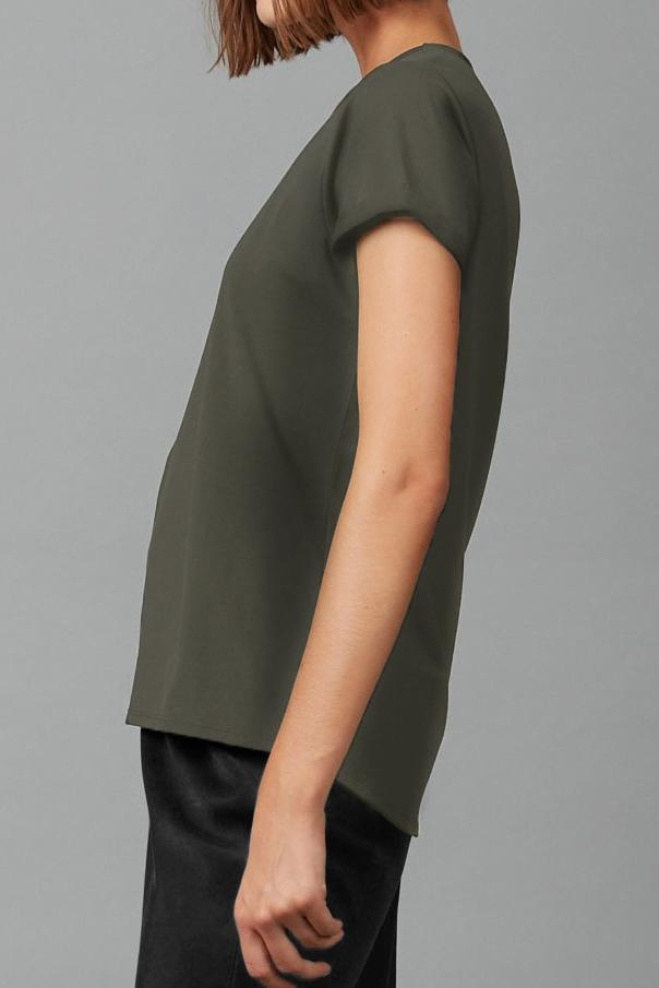 KHAKI SEEL CAP SLEEVE TEE - Nique Clothing