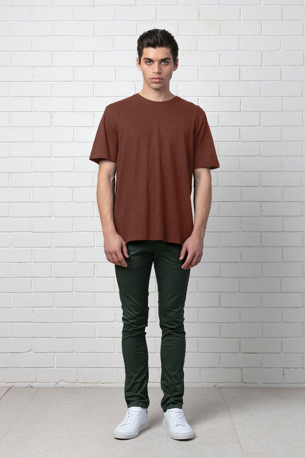 RUST ETHEREAL HEMP COTTON TEE - Nique Clothing