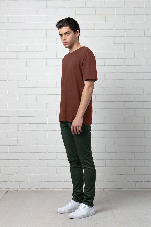 RUST ETHEREAL HEMP COTTON TEE