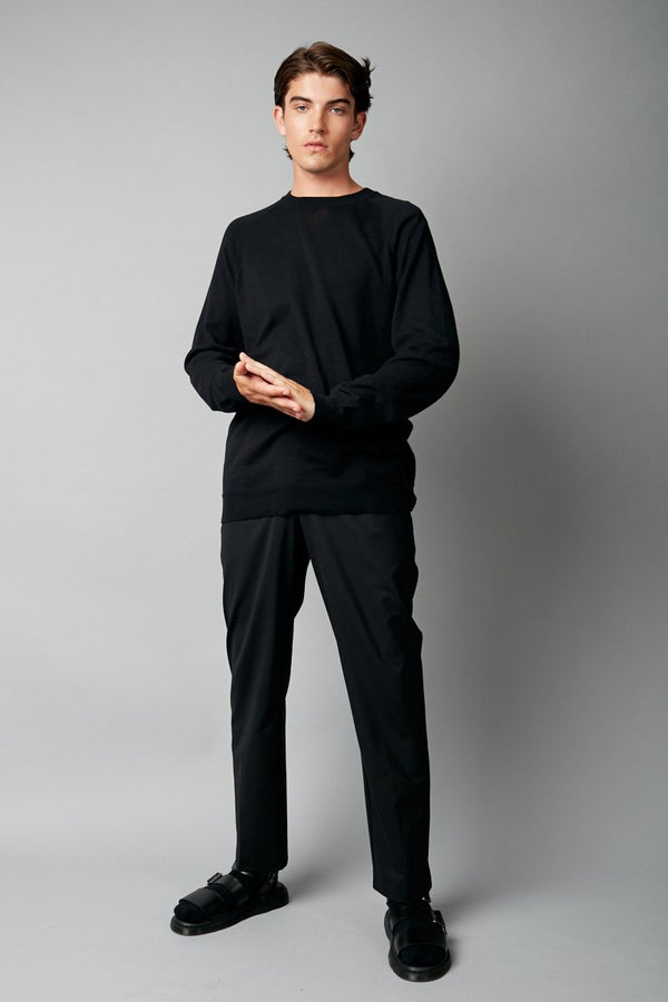 BLACK YAGIRA COTTON KNIT
