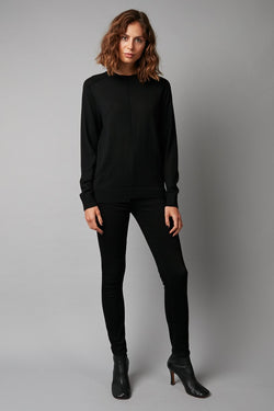 BLACK MERINO AKASUKI KNIT