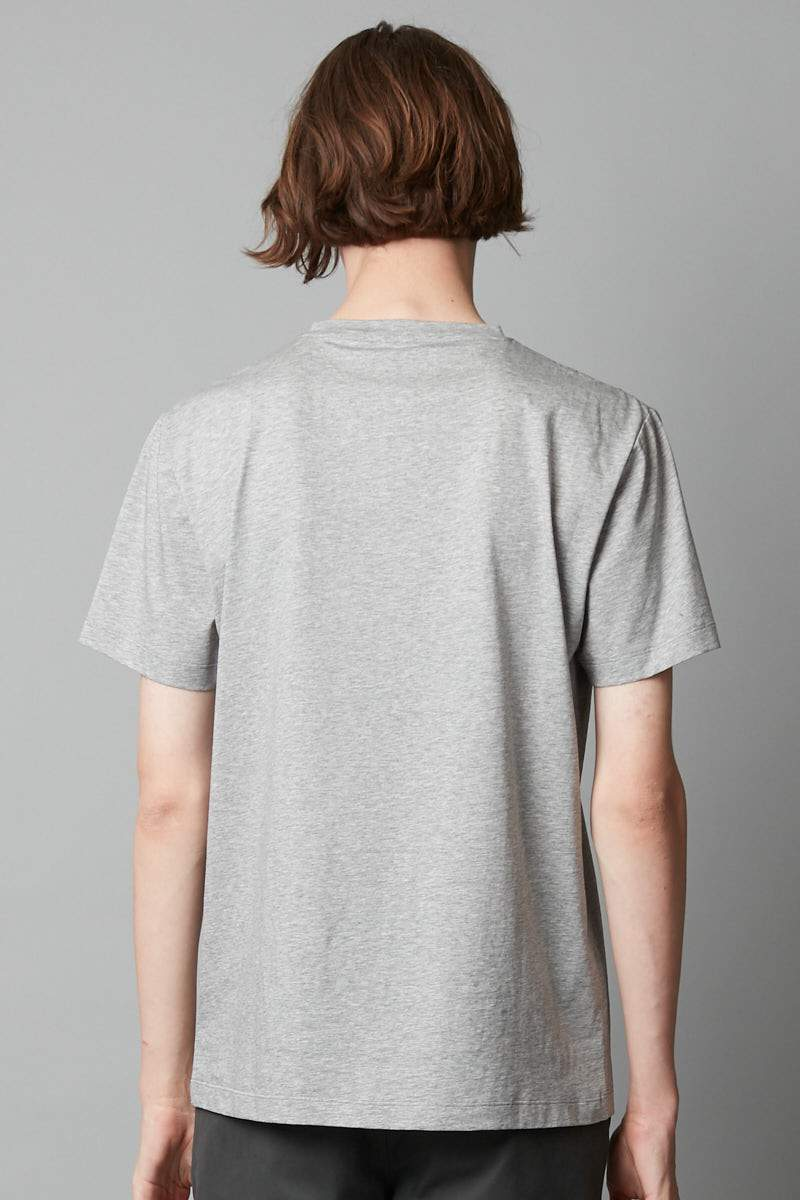 GREY MARL TAIT MERCERISED COTTON TEE - Nique Clothing