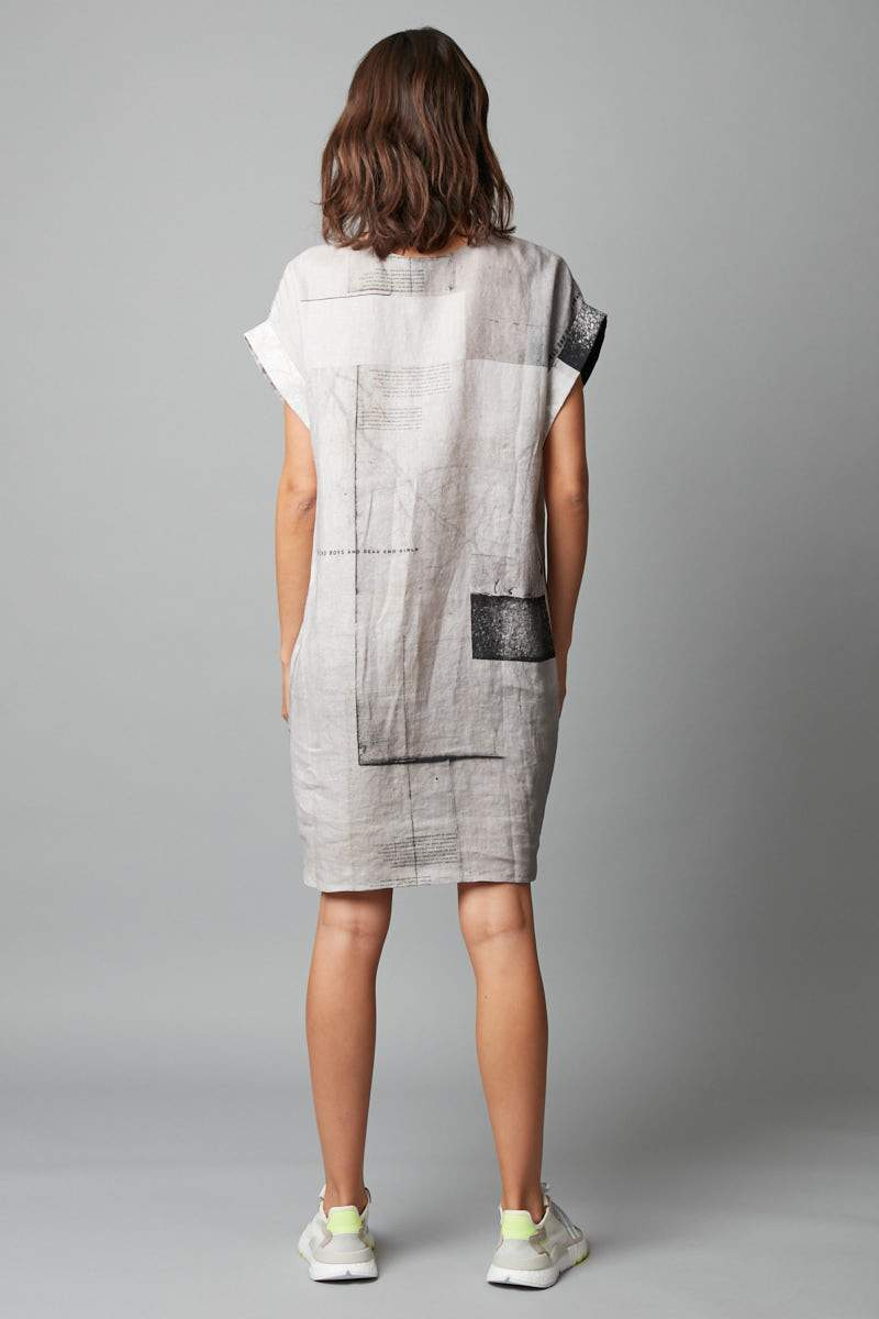 CEMENT HANAE ABSTRACT PRINT DRESS