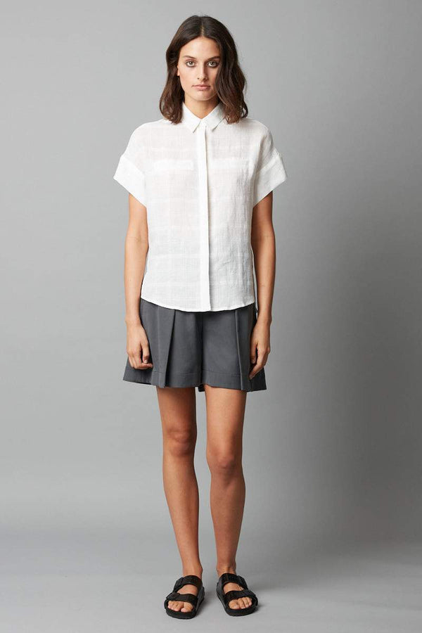IVORY RAVEN LINEN SHIRT - Nique Clothing