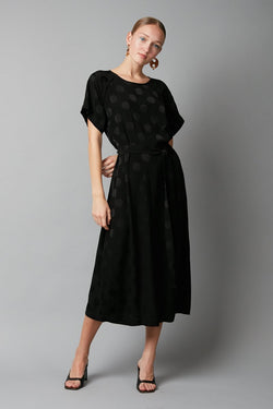 BLACK JACQUARD WAI DRESS - Nique Clothing