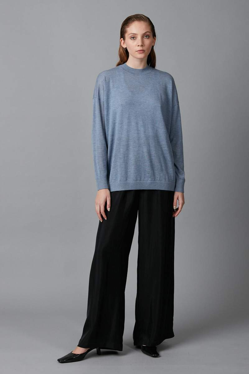 BLUE MICHI MERINO CASHMERE KNIT