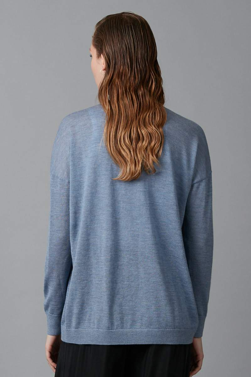 BLUE MICHI MERINO CASHMERE KNIT - Nique Clothing