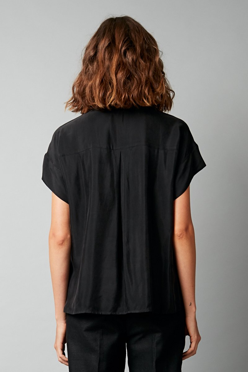 BLACK CUPRO RAVEN SHIRT