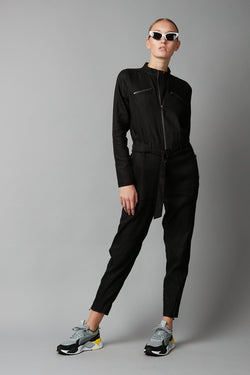 BLACK DRIVER JUMPSUIT
