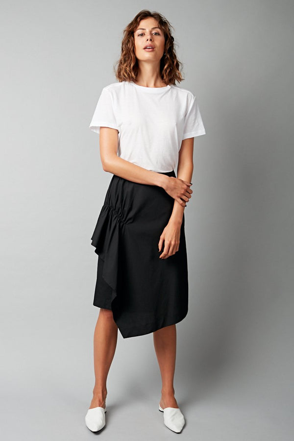 BLACK HIRA COTTON SKIRT
