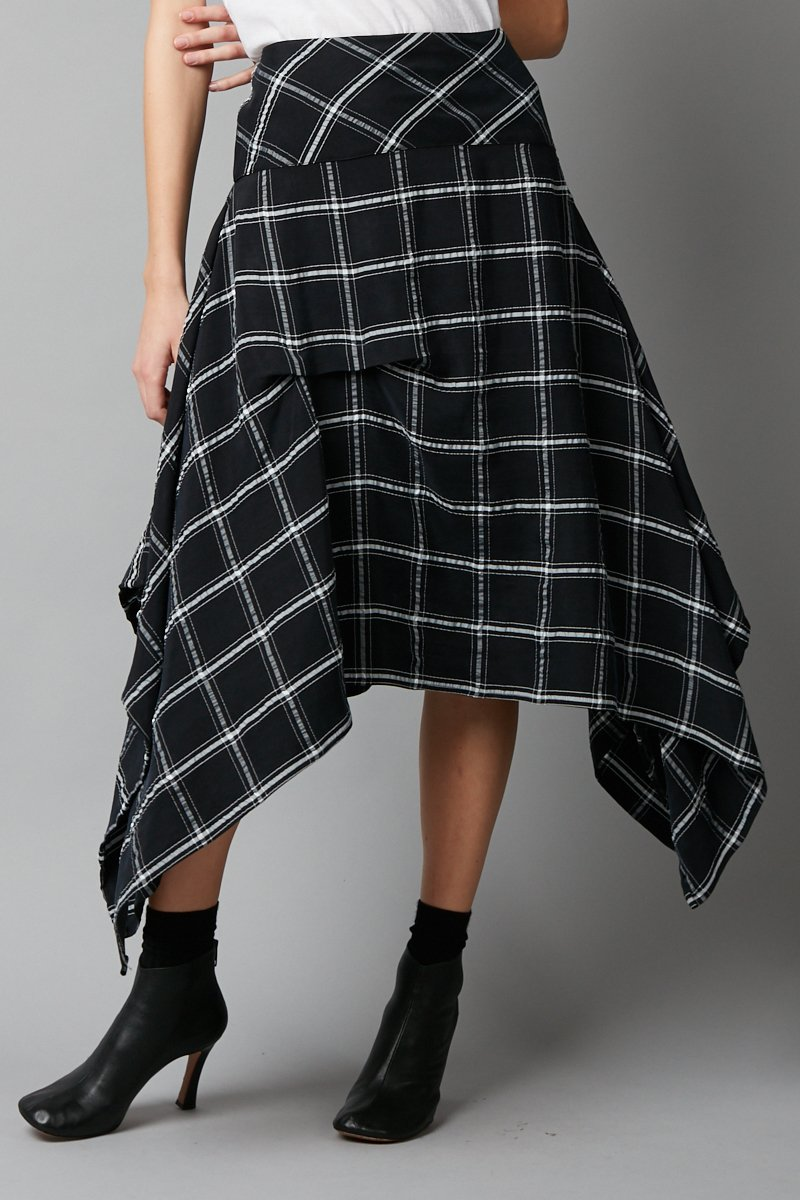 BLACK CUPRO HIKO SKIRT