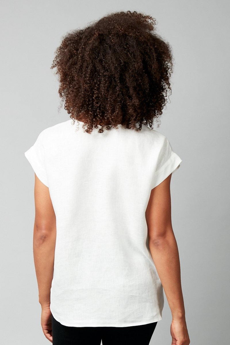 IVORY HANAE LINEN TOP - Nique Clothing
