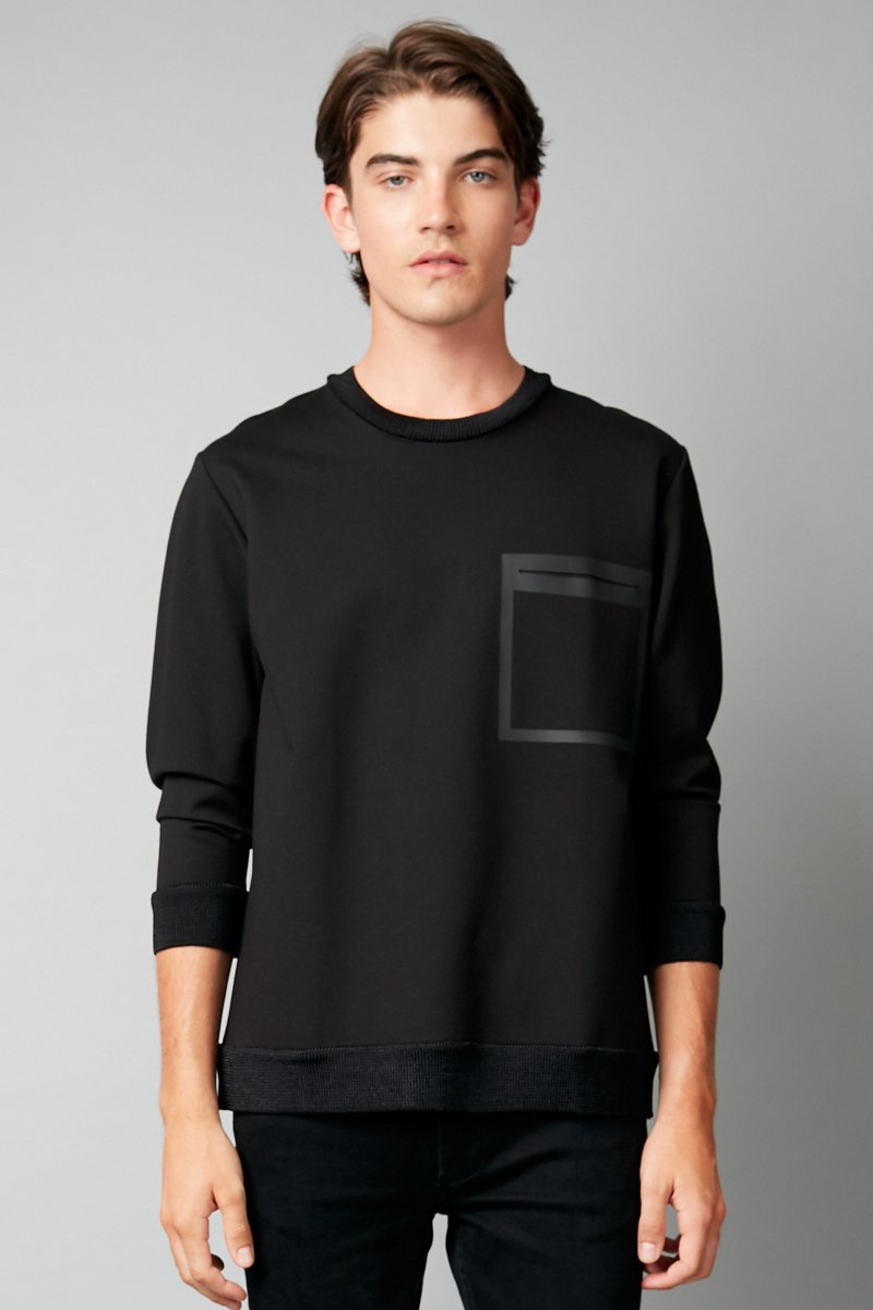 BLACK KOYUKI HEAT SEAL SWEATER