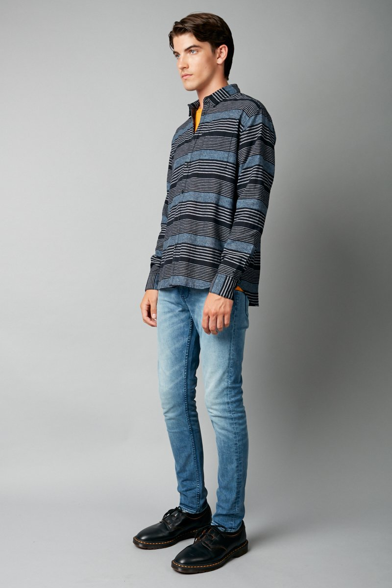 KIYONORI RELAXED LONG SLEEVE SHIRT - Nique Clothing