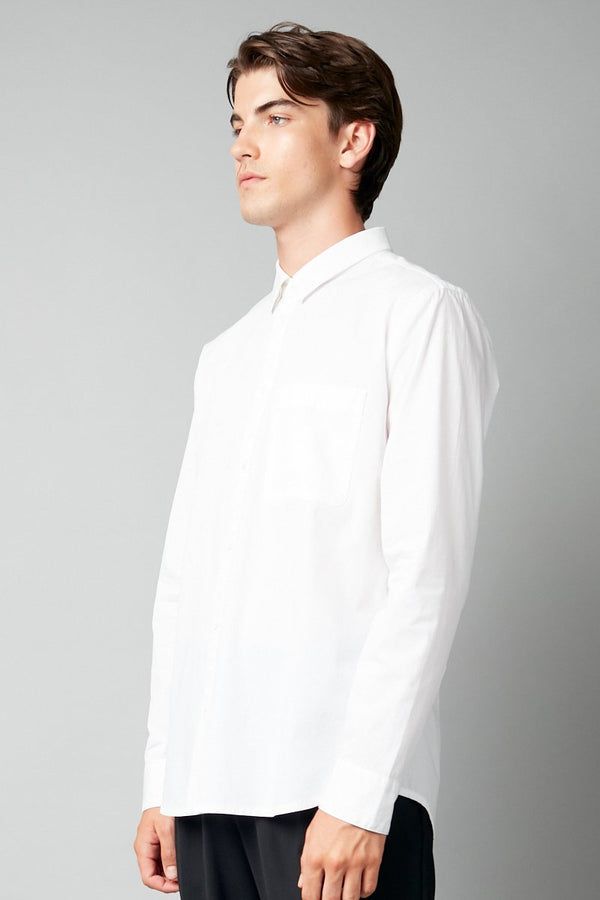 HAYAME UNISEX WHITE LONG SLEEVE SHIRT