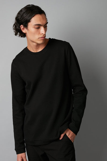 BLACK AFFINITY COTTON KNIT