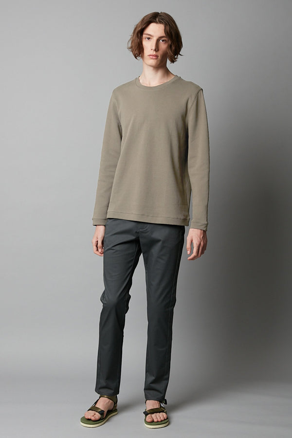 KHAKI MATSUDA TEXTURED SWEATER - Nique Clothing