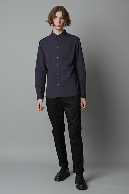 KUSEI SLIM FIT COTTON SHIRT