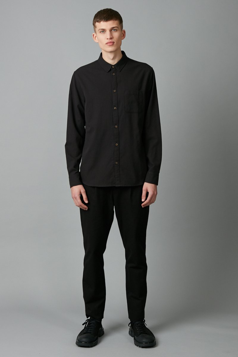 BLACK JEEVA LONG SLEEVE SHIRT