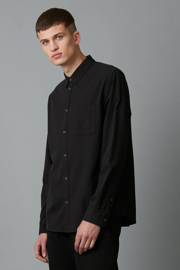 BLACK JEEVA LONG SLEEVE SHIRT - Nique Clothing