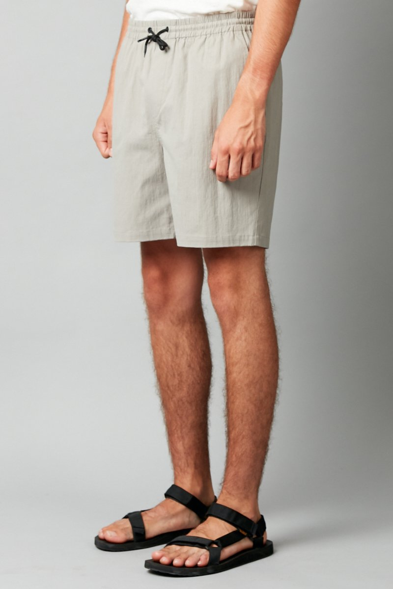LIGHT KHAKI ISAMU COTTON SHORT - Nique Clothing