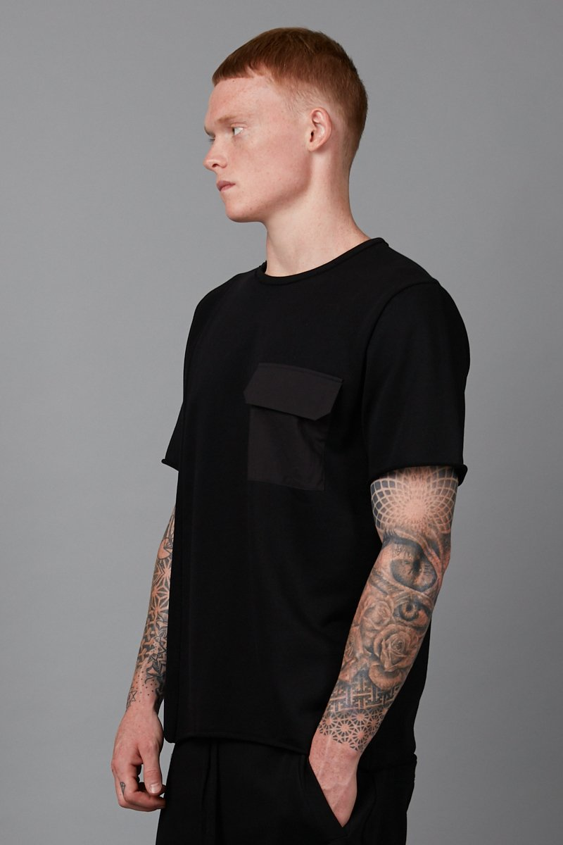 BLACK NISHI FRENCH TERRY TSHIRT - Nique Clothing
