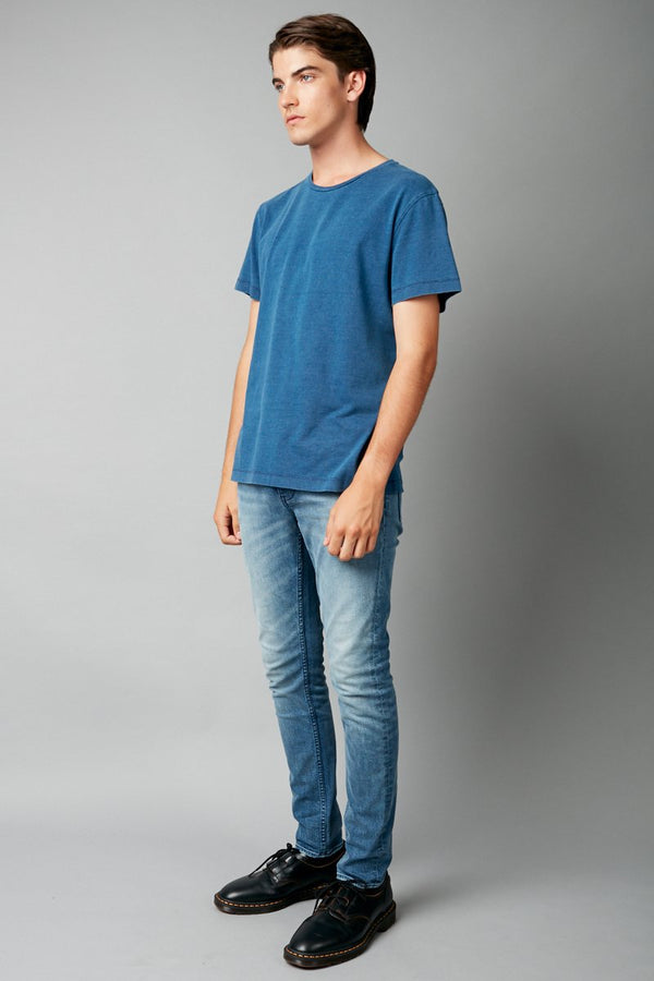 INDIGO TAIT SHORT SLEEVE TEE - Nique Clothing