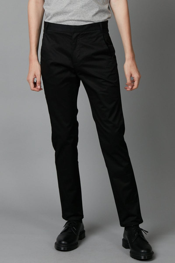 BLACK SLIM STRAIGHT CHINO - Nique Clothing
